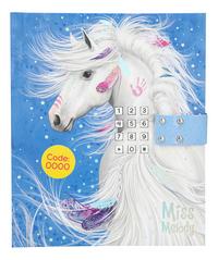 Dagboek Miss Melody blauw-Vooraanzicht
