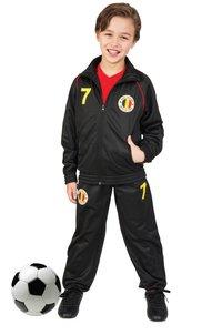 Trainingspak België zwart maat 152-Vooraanzicht