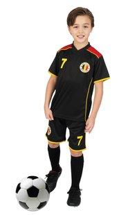 Voetbaloutfit België zwart maat 140
