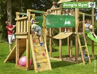 Jungle Gym speeltoren Palace met brug en gele glijbaan-Afbeelding 3