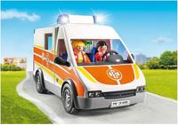 PLAYMOBIL City Life 6685 Ambulance avec gyrophare et sirène-Image 2