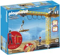Playmobil City Action 5466 Grande grue de chantier commandée par infrarouge