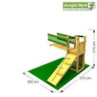 Tour de jeu en bois Barn avec pont et toboggan jaune-Détail de l'article