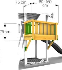 Balkonmodule voor Barn/De Hut/Cubby-Artikeldetail