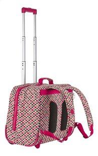 Kipling trolley-boekentas Clas Dallin Latin Mix Pink 42,5 cm-Achteraanzicht