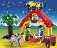 Playmobil 1.2.3 6786 Kerststal-Afbeelding 1
