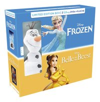 Dvd Frozen + dvd Belle en het Beest + knuffel Olaf-Linkerzijde