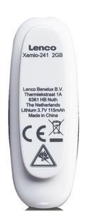 Lenco lecteur MP3 Xemio-241 2 Go bleu-Arrière