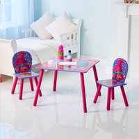 Tafel met 2 stoelen voor kinderen Trolls-Afbeelding 1