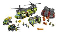 LEGO City 60125 Vulkaan zware vrachthelicopter-Vooraanzicht