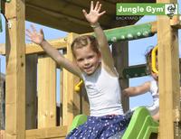 Jungle Gym speeltoren Palace met brug en blauwe glijbaan-Afbeelding 2