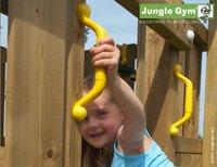 Jungle Gym speeltoren Palace met brug en blauwe glijbaan-Afbeelding 4
