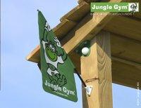 Jungle Gym speeltoren Palace met brug en groene glijbaan-Bovenaanzicht