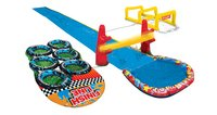 Banzai toboggan aquatique Aqua Blast Obstacle Course-commercieel beeld