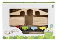 DreamLand Train en bois avec 20 piéces-Avant