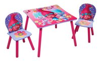 Tafel met 2 stoelen voor kinderen Trolls-Vooraanzicht
