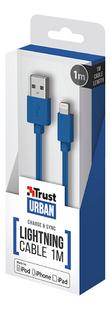 Trust kabel USB naar Lightning 1m blauw-Rechterzijde