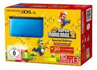 Nintendo 3DS XL console bleu/noir + New Super Mario Bros. 2 FR/NL