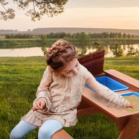 Sunny table de pique-nique pour enfants Dave Sand & Water-Image 3