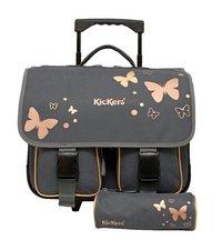 fff063c167 Kickers cartable à roulettes + plumier Papillon 42 cm