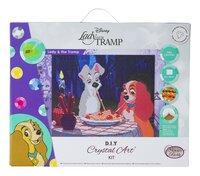 Craft Buddy Crystal Art Kit Disney - La Belle et le Clochard-Avant
