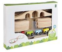 DreamLand Train en bois avec 20 piéces-Côté gauche
