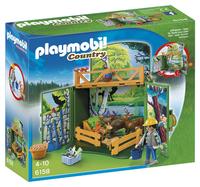 Playmobil Country 6158 Coffre Enclos des animaux de la forêt avec soigneur