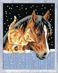 Ravensburger Numéro d'Art Deux amis sous la neige