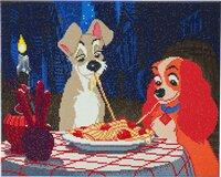 Craft Buddy Crystal Art Kit Disney - La Belle et le Clochard-commercieel beeld