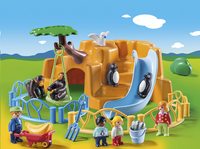 PLAYMOBIL 1.2.3 9377 Parc animalier-Image 1