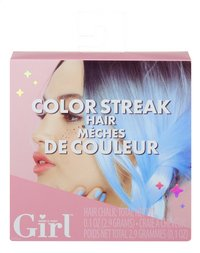 Who's That Girl Color Streak Hair blauw-Vooraanzicht