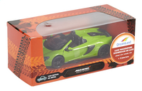 DreamLand auto Showroom de luxe McLaren 650S Spider groen-Vooraanzicht