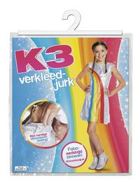 Déguisement K3 robe arc-en-ciel taille 116-Avant