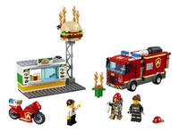 LEGO City 60214 Brand bij het hamburgerrestaurant-Vooraanzicht