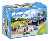 PLAYMOBIL City Life 9278 Toiletteuse avec véhicule-Côté gauche