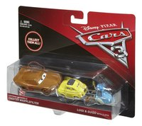 Voiture Disney Cars 3 Flash McQueen en Chester Whipplefilter, Luigi & Guido