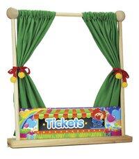 Théâtre de marionnette en bois avec 5 marionnettes-Détail de l'article