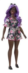 Barbie poupée mannequin  Fashionistas Curvy 125 - Pink Roses-Côté gauche