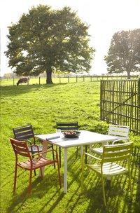 Table de jardin Nice blanc 100 x 100 cm-Image 2