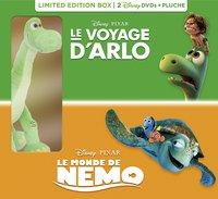 Dvd Le Voyage d'Arlo + Le Monde de Nemo + pluche FR