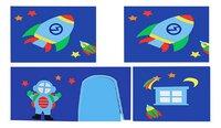 Vipack rideau de jeu Astronaute pour lit mi-hauteur Pino-Détail de l'article