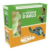 DVD Le Voyage d'Arlo + Le Monde de Nemo + peluche-Côté gauche