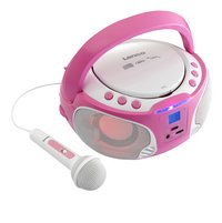 Lenco radio/lecteur CD portable SCD 650 rose-Avant