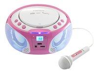 Lenco radio/lecteur CD portable SCD 650 rose-Détail de l'article