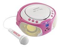 Lenco radio/lecteur CD portable SCD 650 rose-Image 1