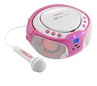 Lenco radio/lecteur CD portable SCD 650 rose-Image 2