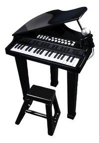 Piano met stoel en micro-Vooraanzicht