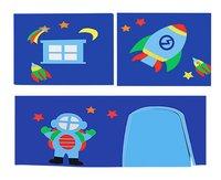 Vipack rideau de jeu Astronaute pour lit mi-hauteur Pino-Avant