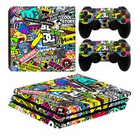 PS4 Pro console skin + 2 controllers skins Hoonigan