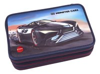 Plumier garni Monster Cars rouge